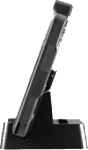 Side view of 2 TouchPOS Tablet on cradle - Crider Solutions